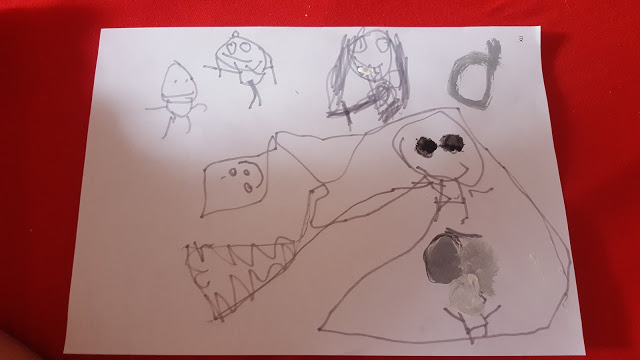 grossekoepfe, Kinderkunstblog, Kinderzeichnung Mamablog