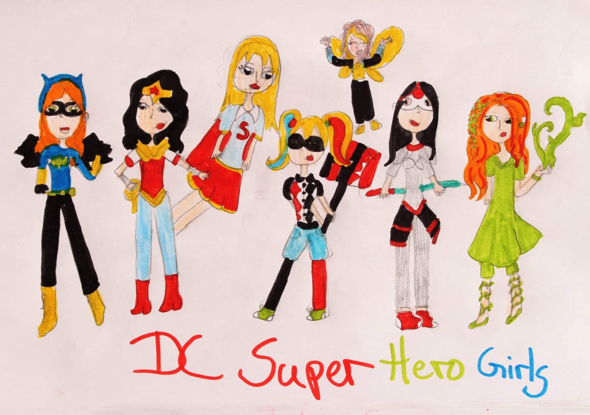 Die DC Super Hero Girls selbstgezeichnet