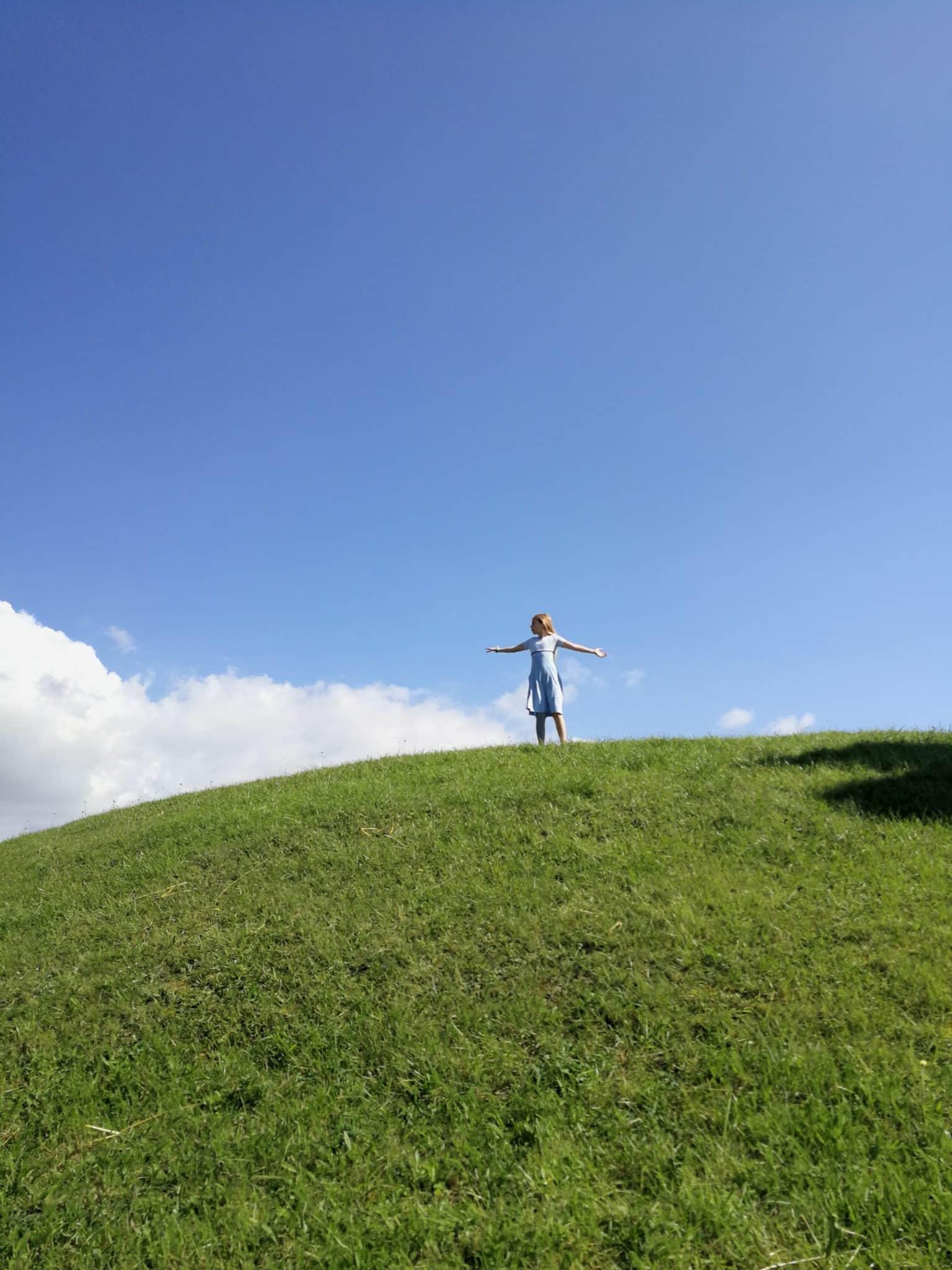 Hünengrab als Aussichtspunkt