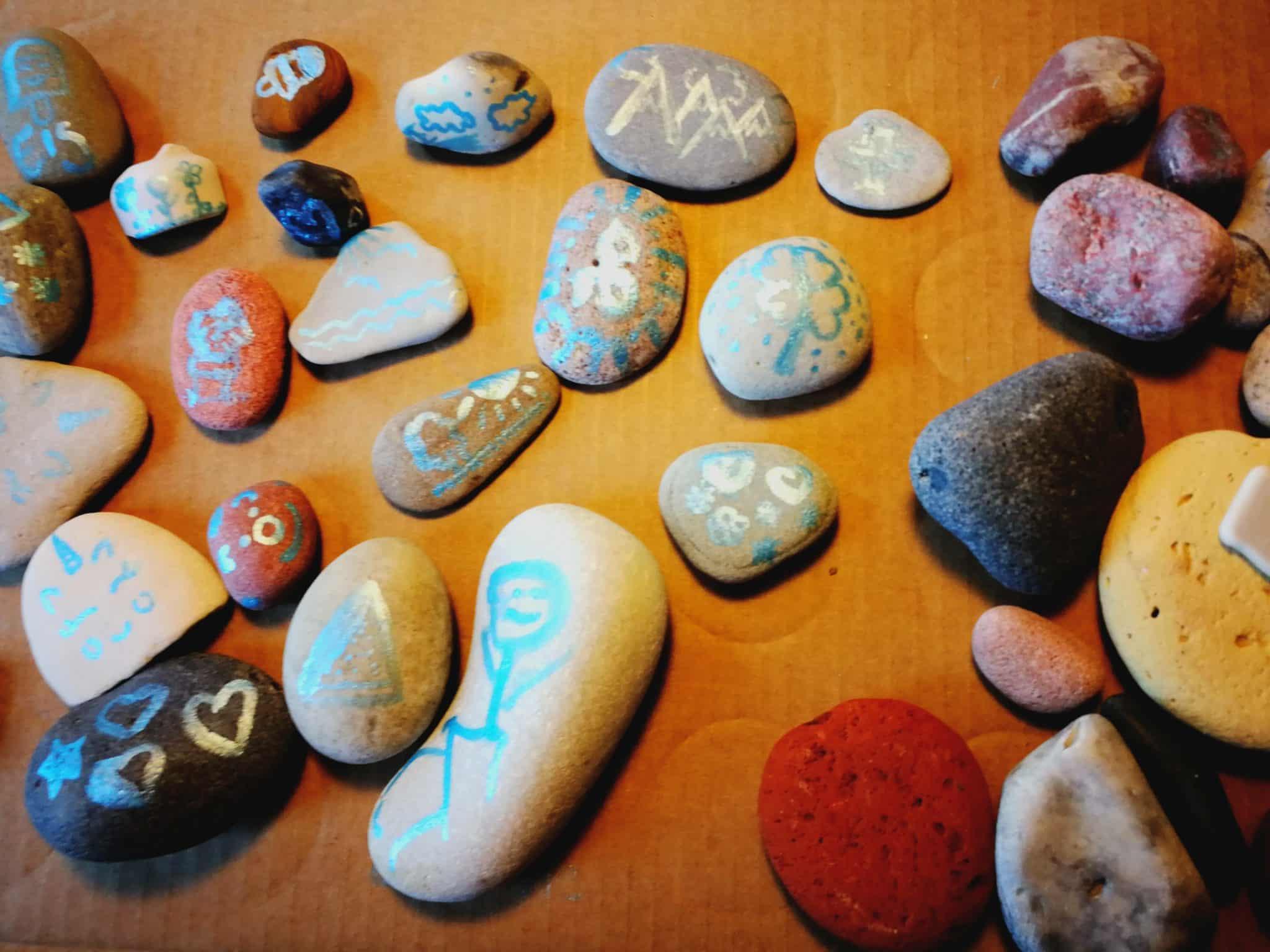 Steinesammlung der Kinder