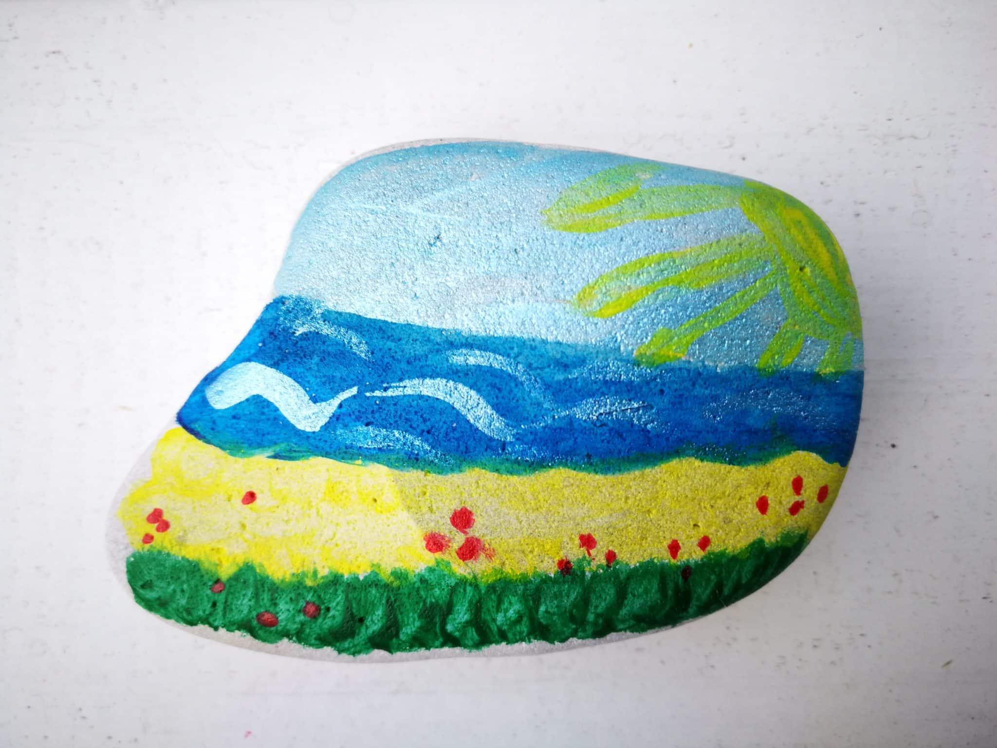 bemalte Steine der Insel Mön