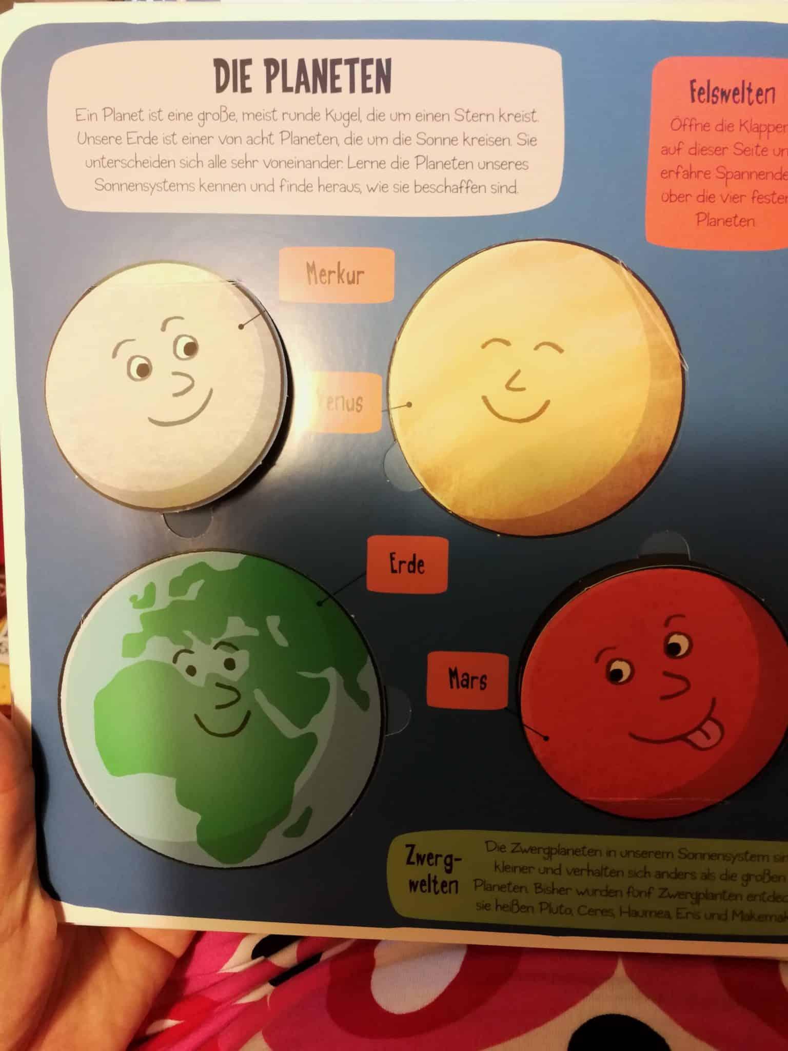 Planetenbuch für Kindern