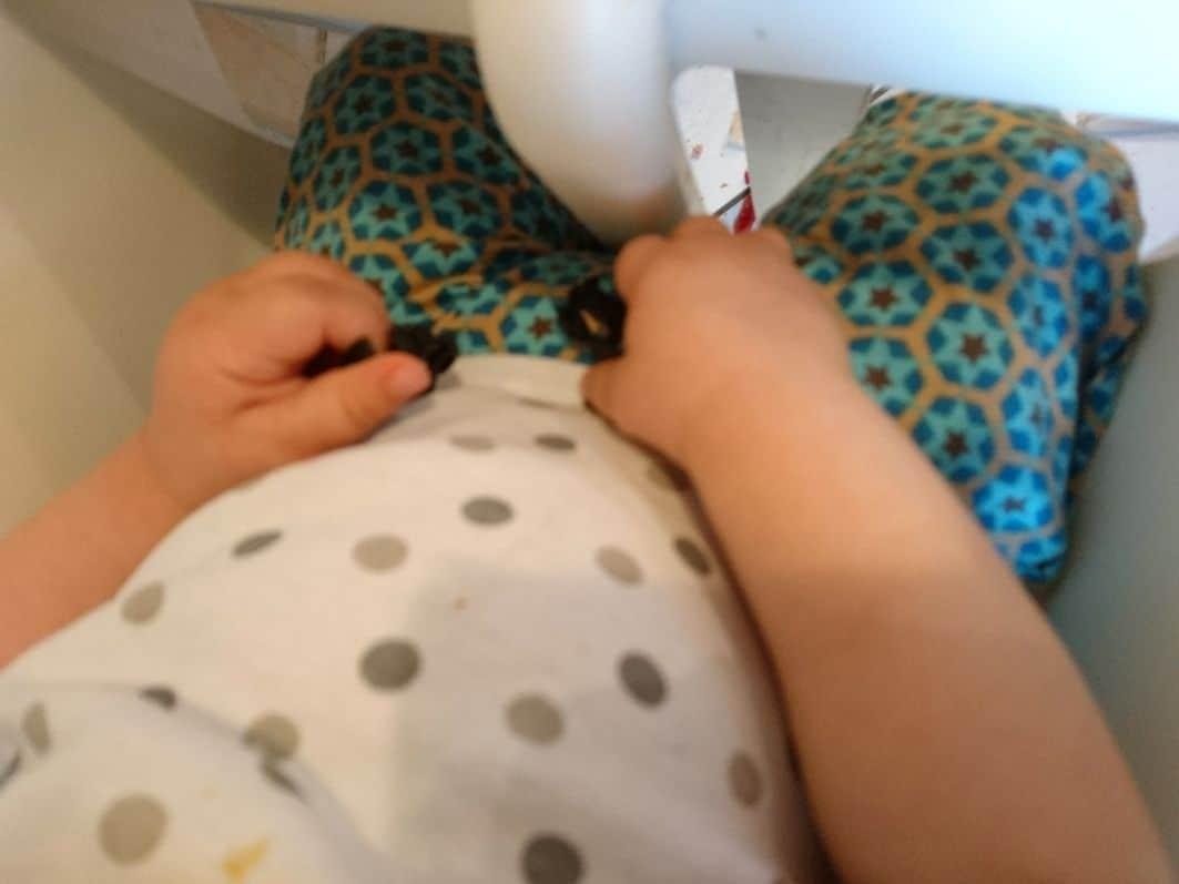 Das Baby übt