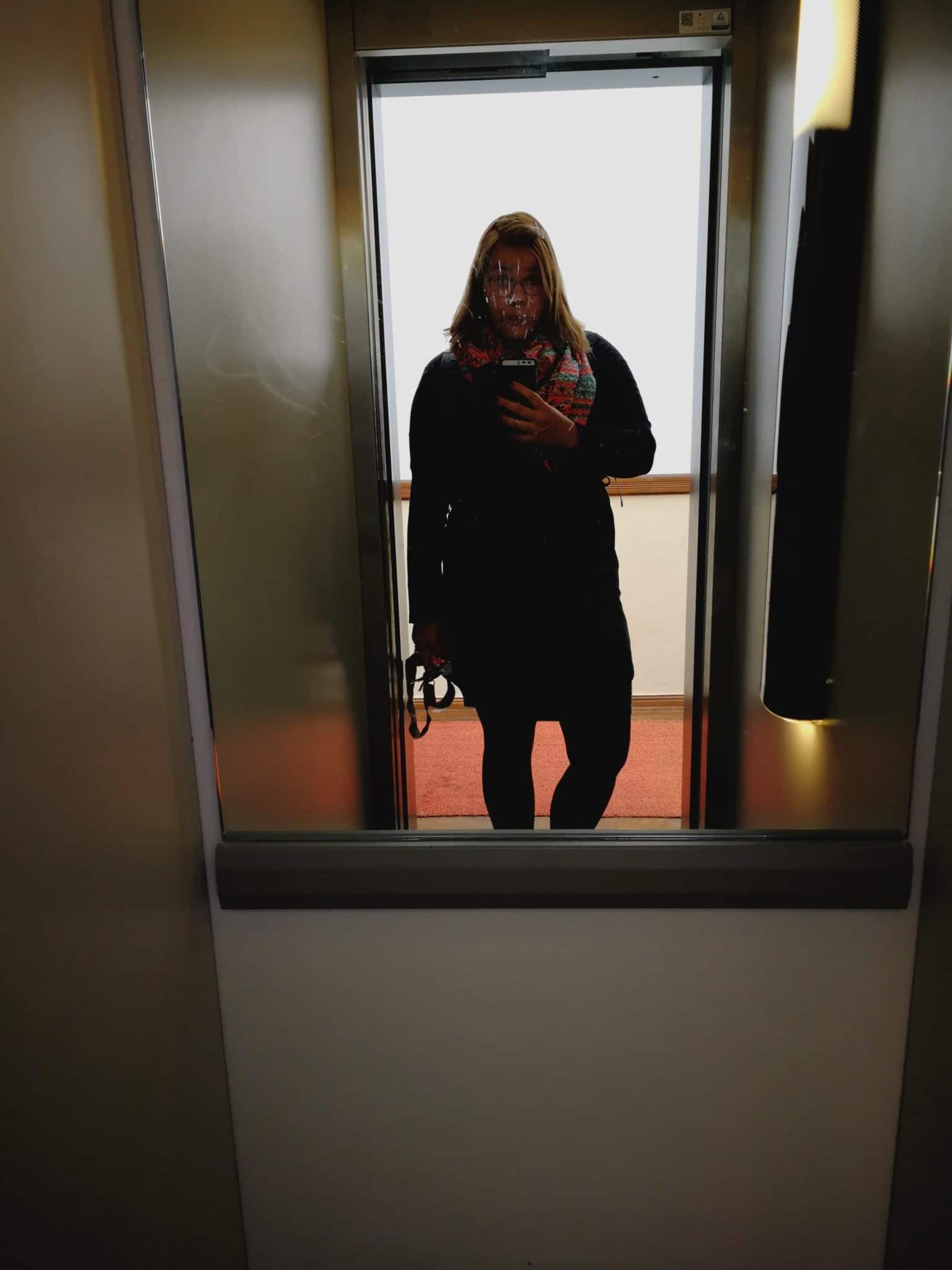 Fahrstuhl Selfie