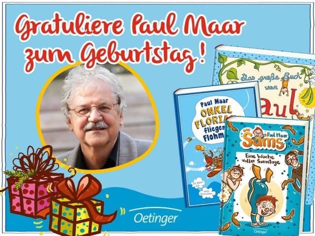Geburtstagsgrußaktion Paul Maar