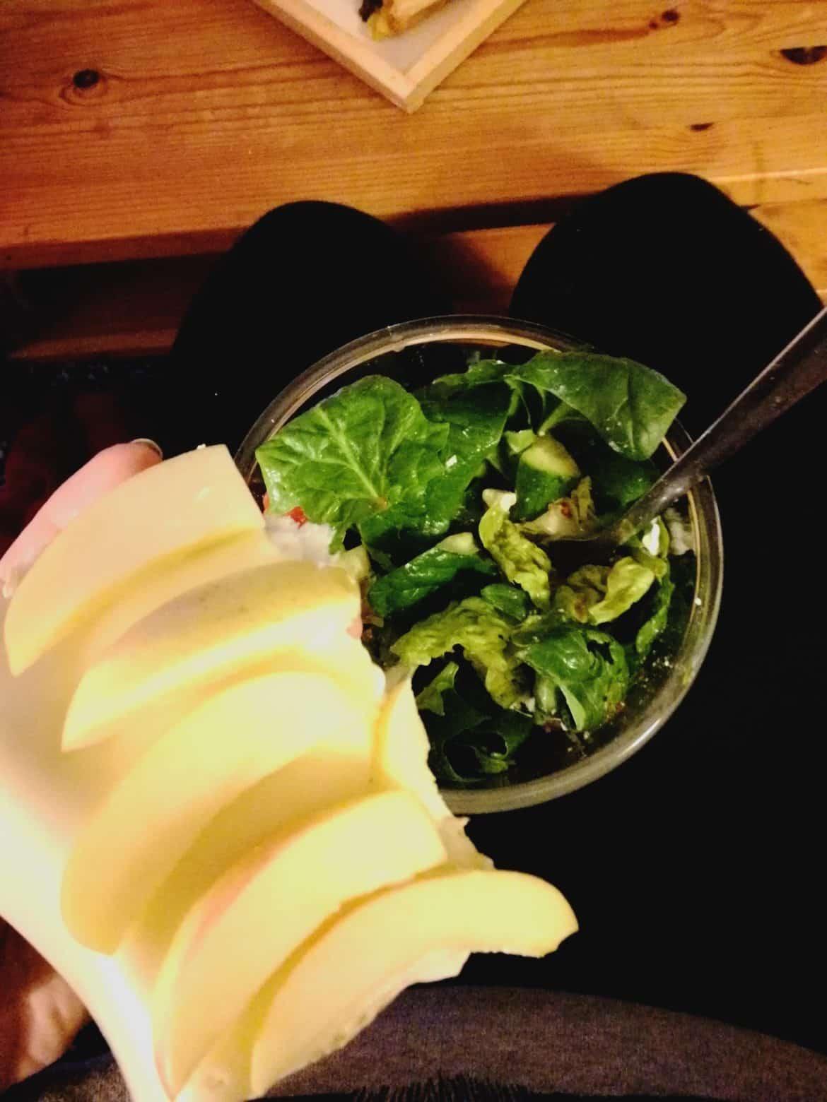 Stulle und Salat