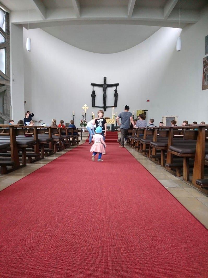 St. Ansgar, Tauffeier, Kirchenbau