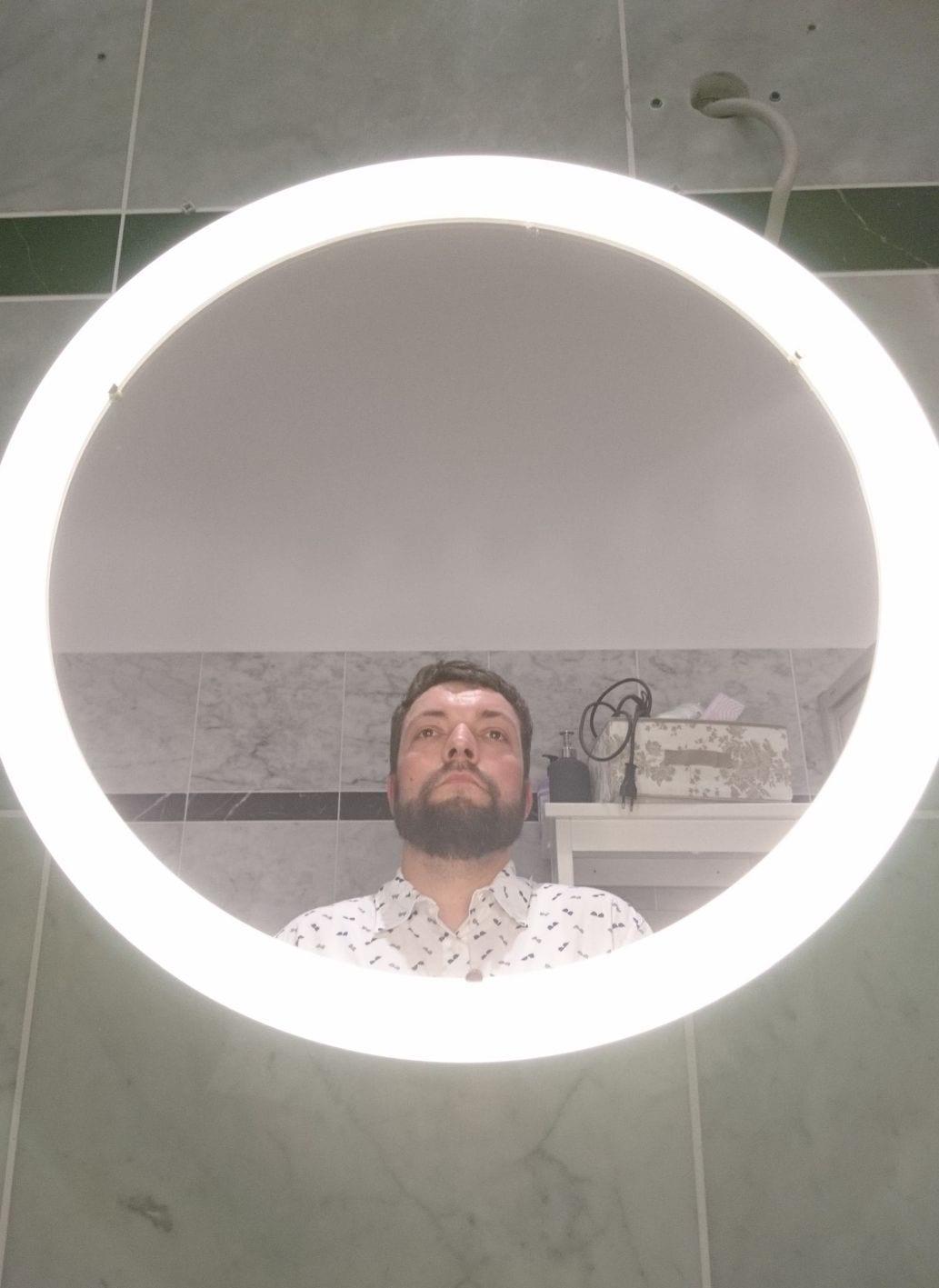 Rund, Licht, Spiegel, Selfie