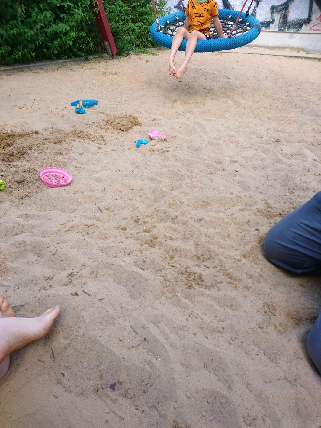 Spielplatz, Schaukel, Kinder