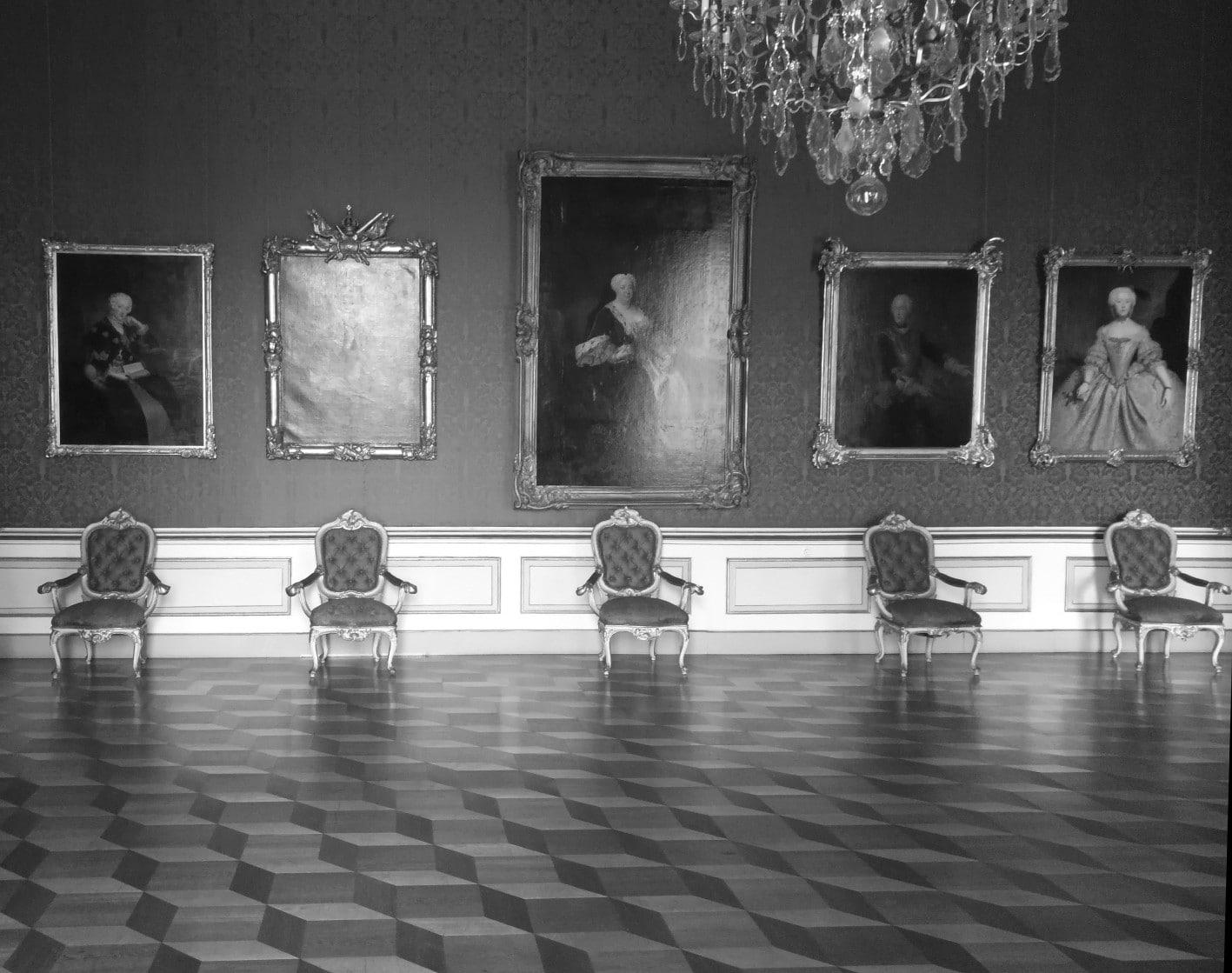 Potsdamer Schloss in schwarz weiß