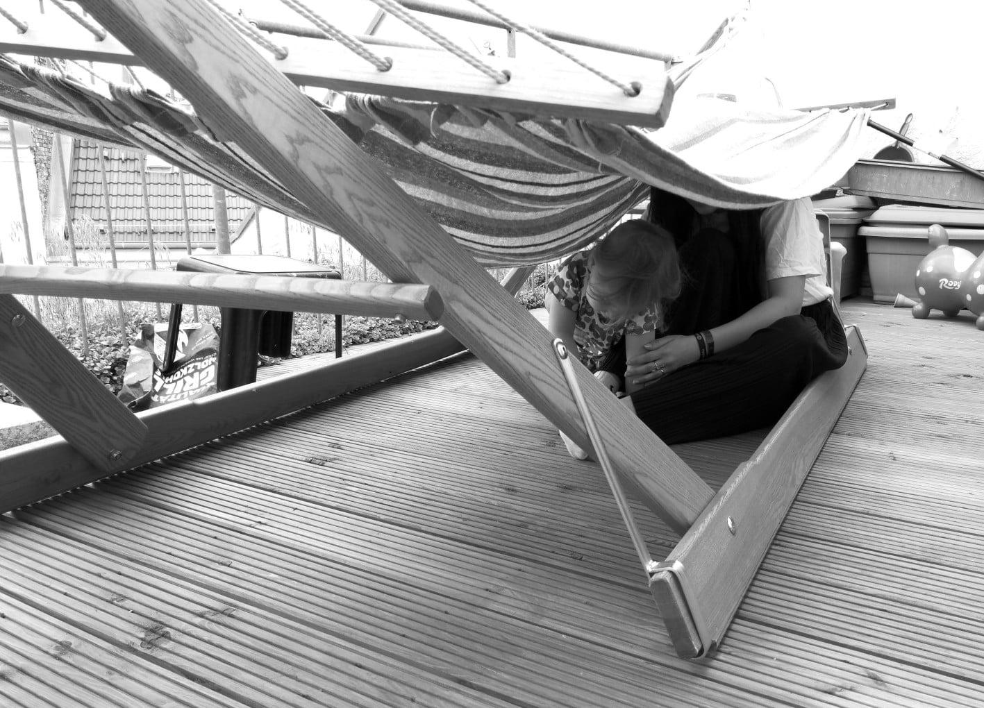 Hängematte auf einer Dachterrasse