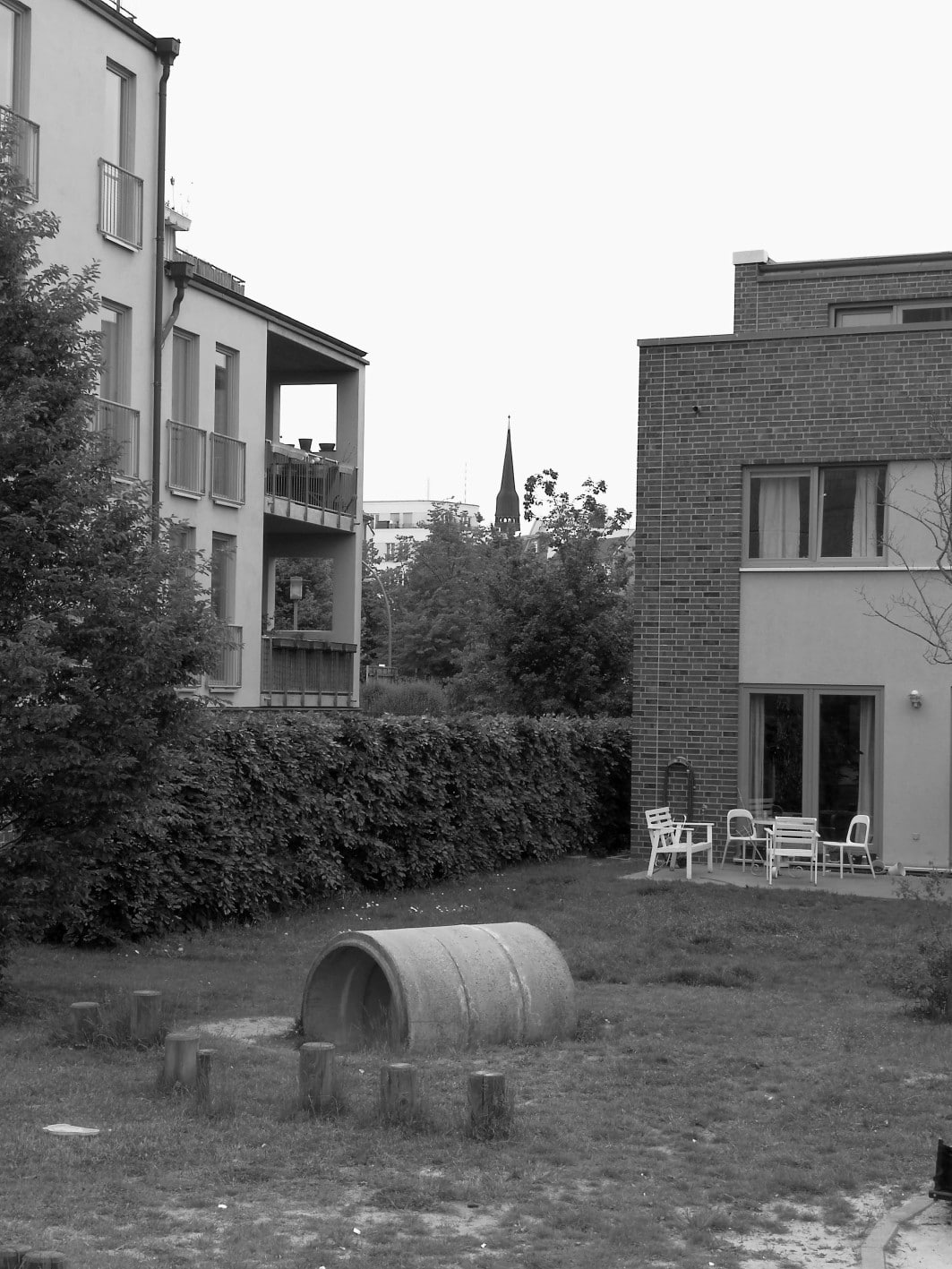 Reihenhäuser in der Innenstadt_Friedrichshain
