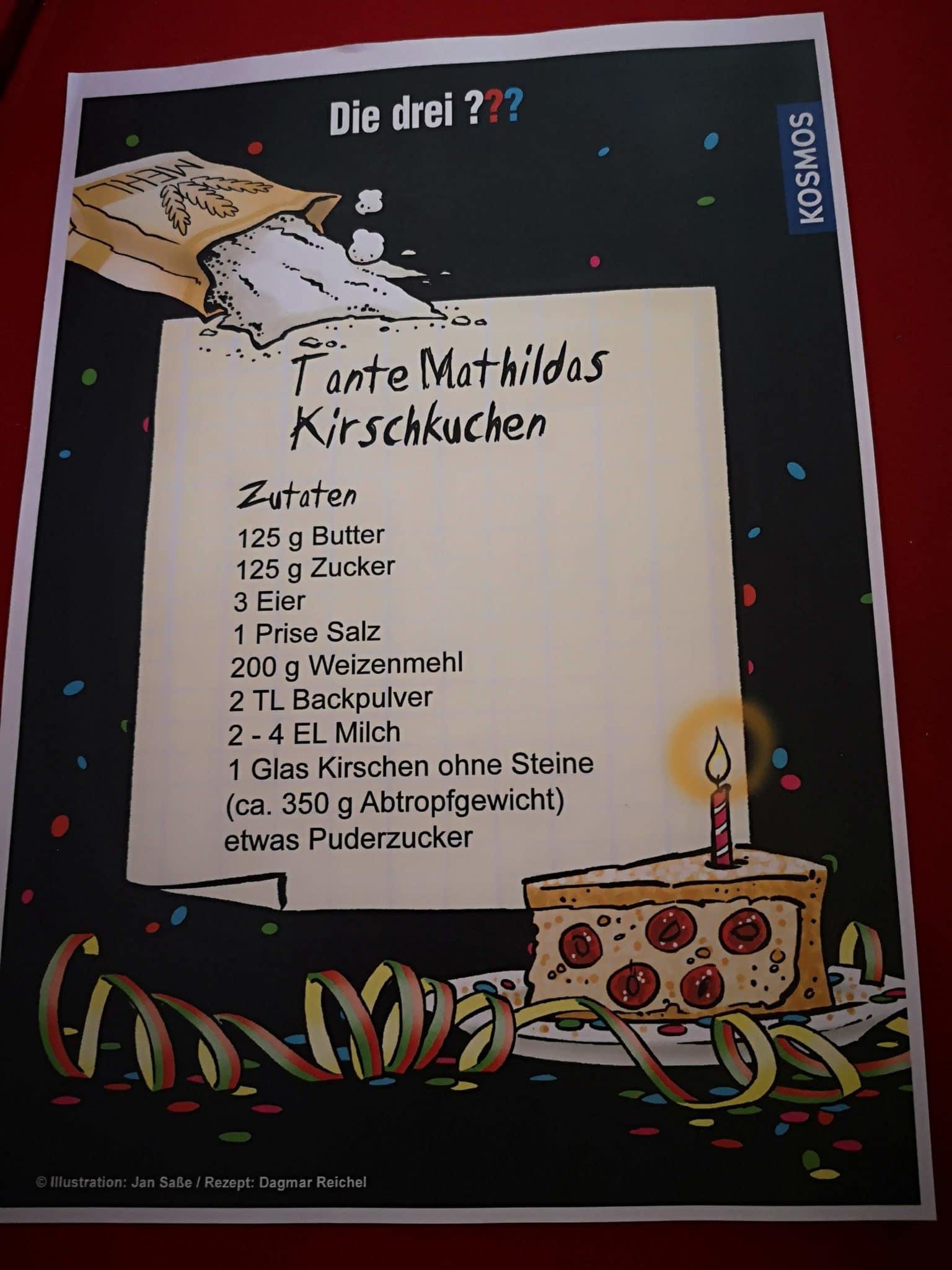 Rezept von Mathildas Kirschkuchen