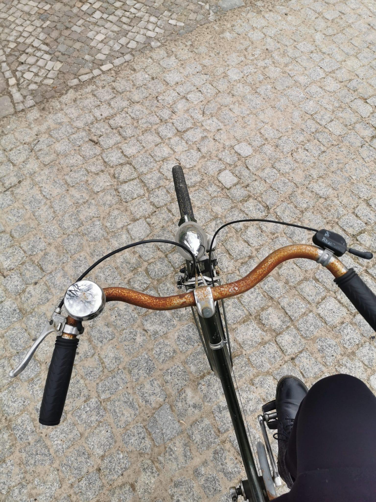 Vor einigen Monaten habe ich ein Rad gerettet, heute darf es mit.