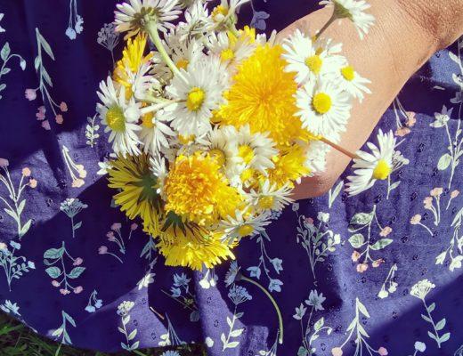 Blumenstrauss allein pflücken