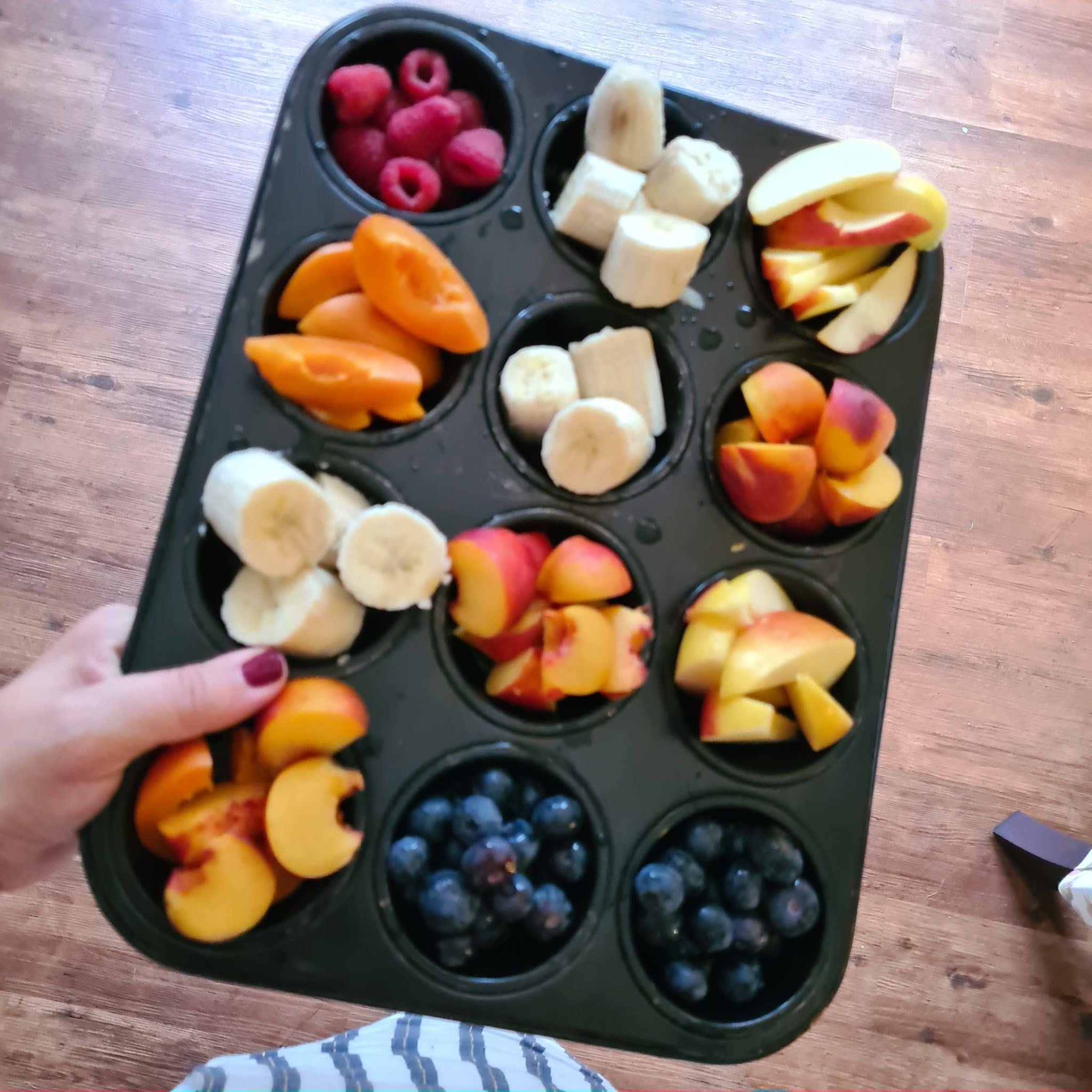 #22 Es gibt weiterhin jeden Abend Obst mit dem Muffintrick.