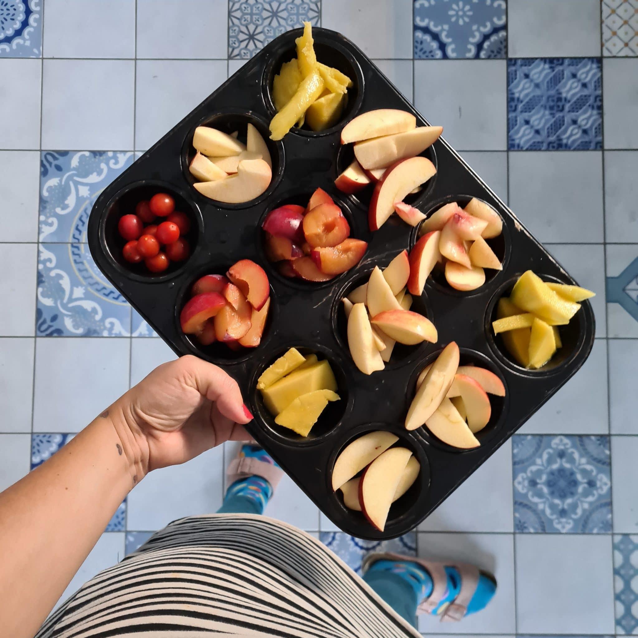 zum Abendbrot gibt es Obst.