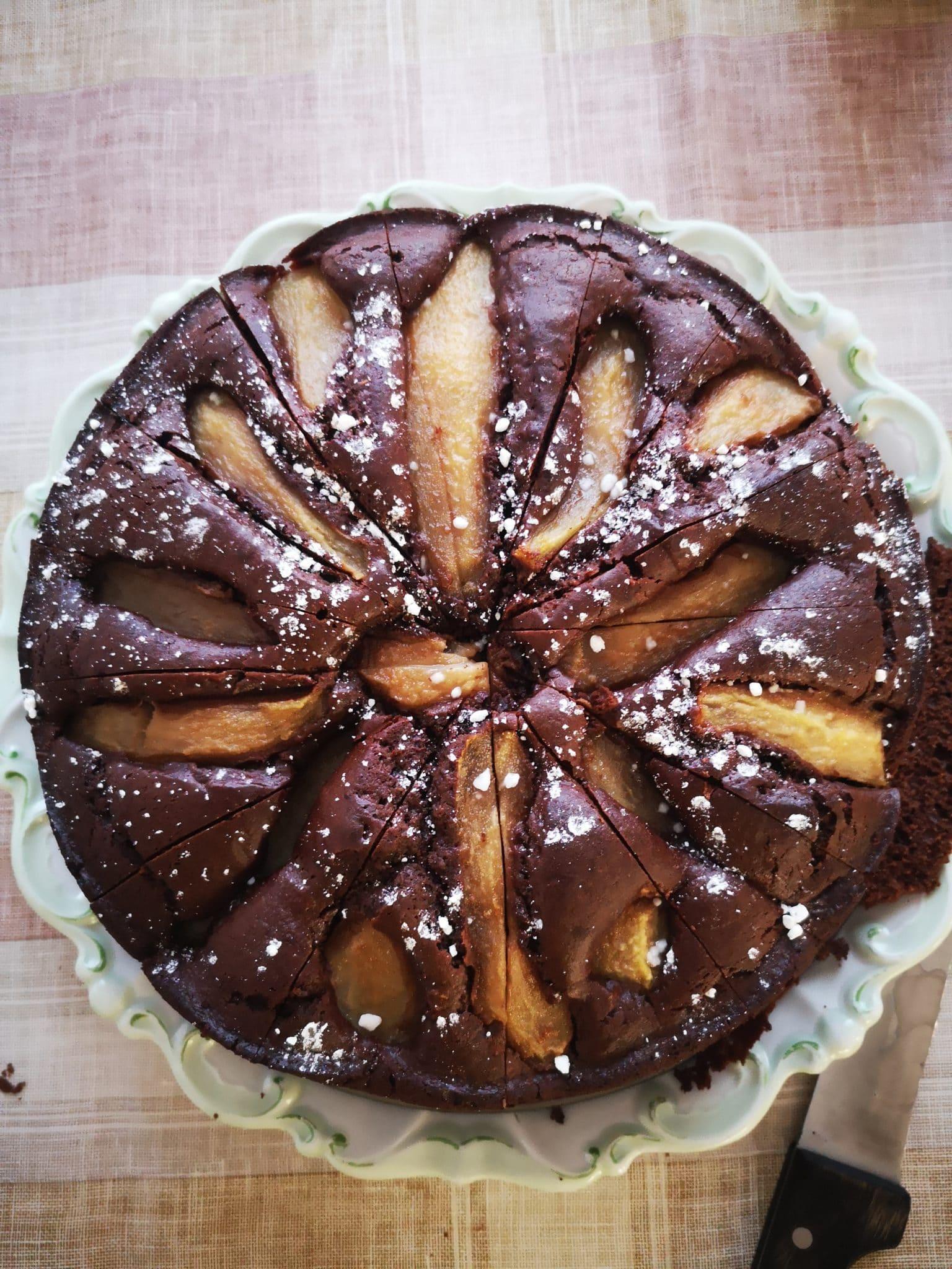 So sieht der Kuchen am Nachmittag aus. Wir gehen zu Oma und Opa.