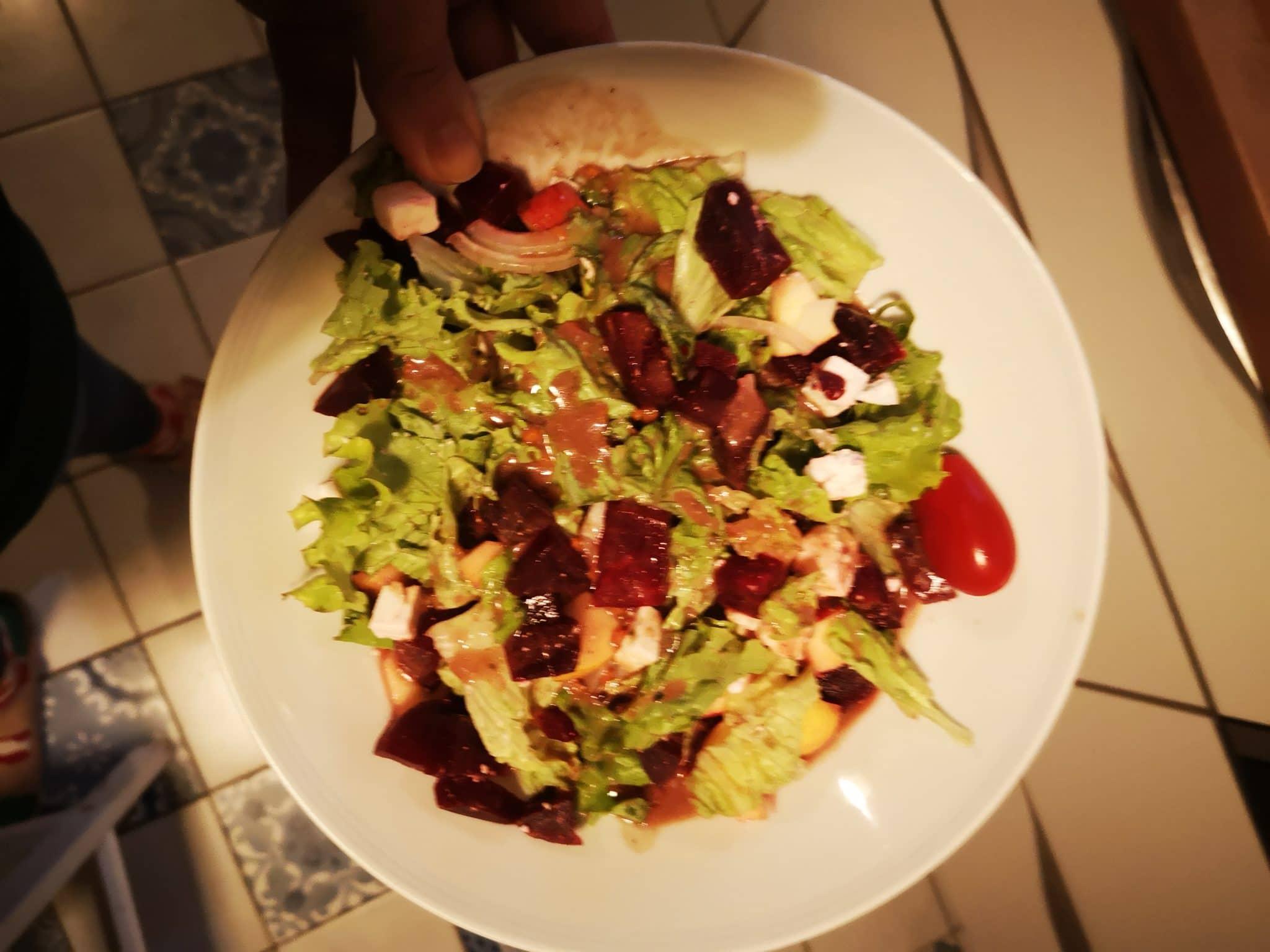#8 und dazu Salat.
