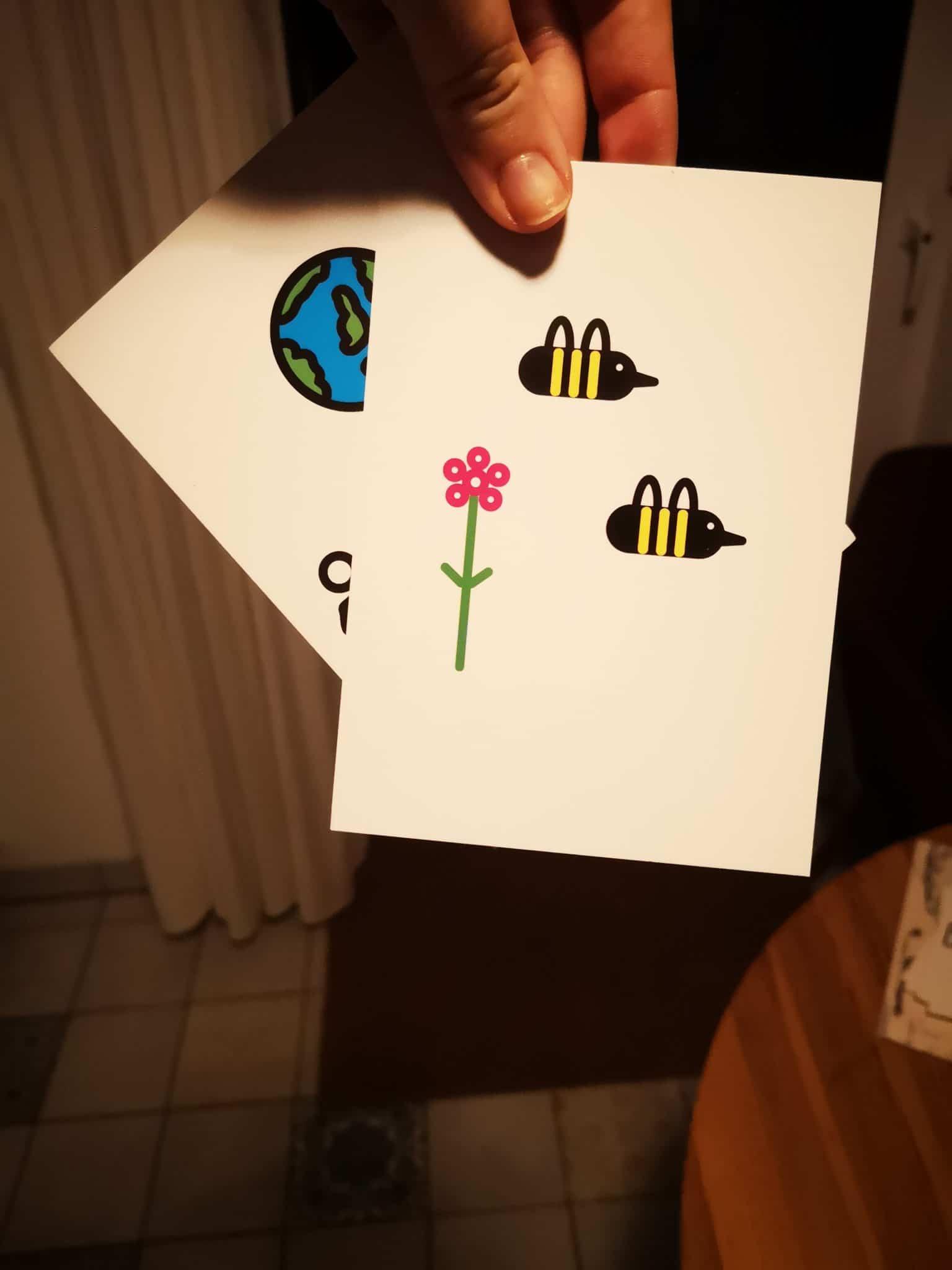 #9 Schnell noch zwei Postkarten schreiben an Menschen die ich mag.