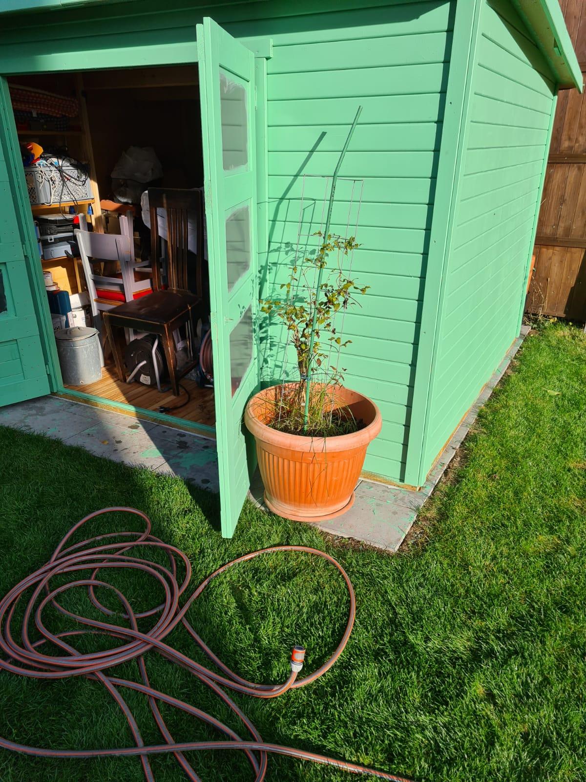 Hallo Sonntag. Heute steht Gartenarbeit an.