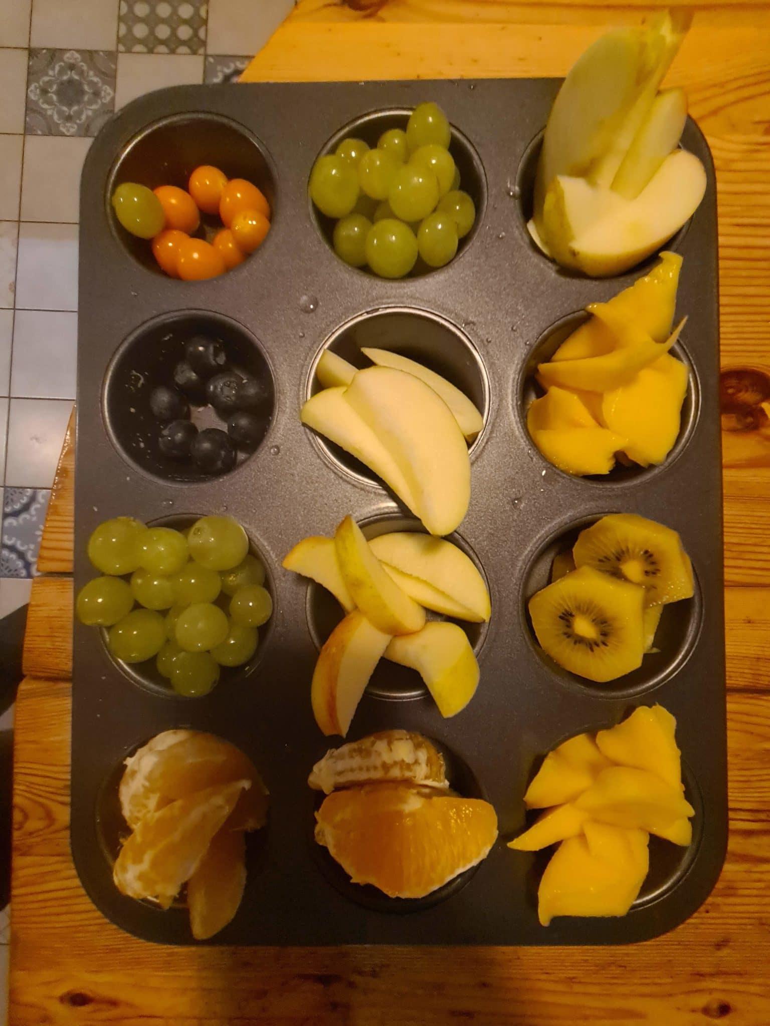 Und zum Nachtisch: Obstteller.