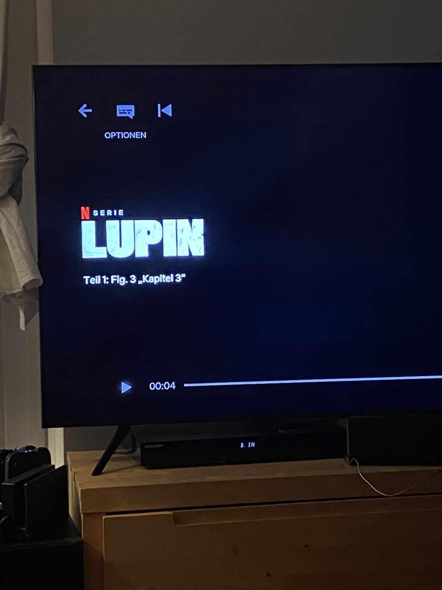 Am Abend schauen der Mann und ich noch Lupin durch, eine sehr gute Serie!