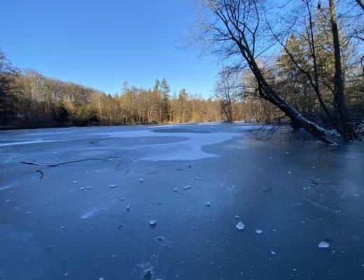 Immerhin ist der See zugefroren und das ist ja wunderbar.