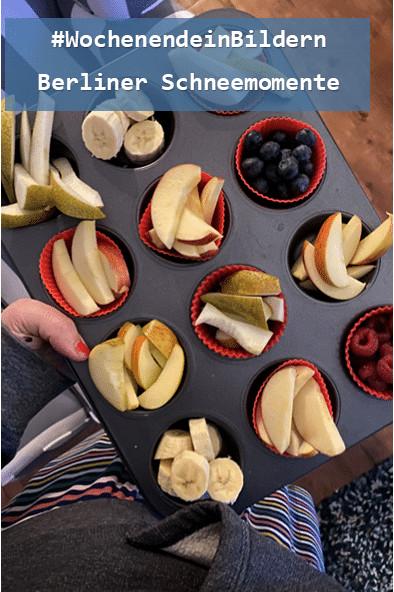 und am Abend gibt es noch mal einen Obstteller für alle Familienmitglieder.