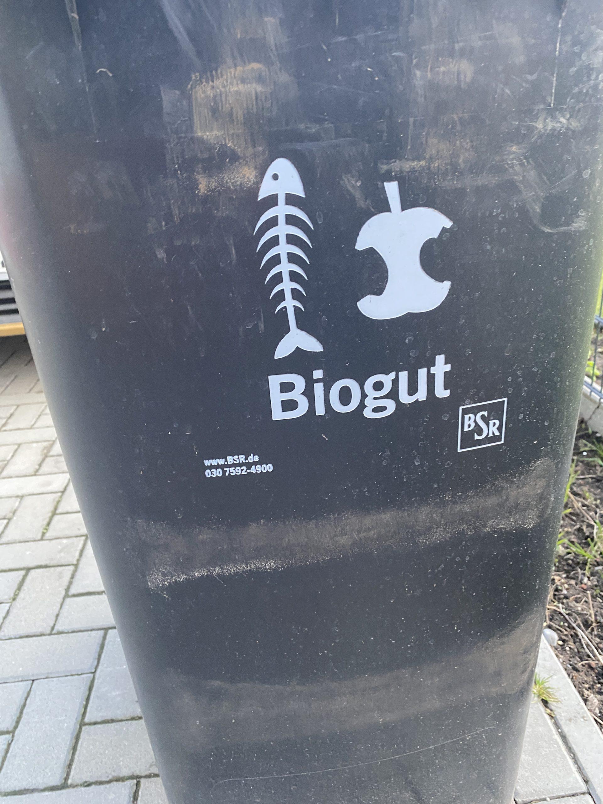 Upps, fast vergessen: Die Biotonne muss raus.