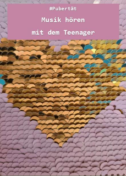 Musik hören mit dem Teenager