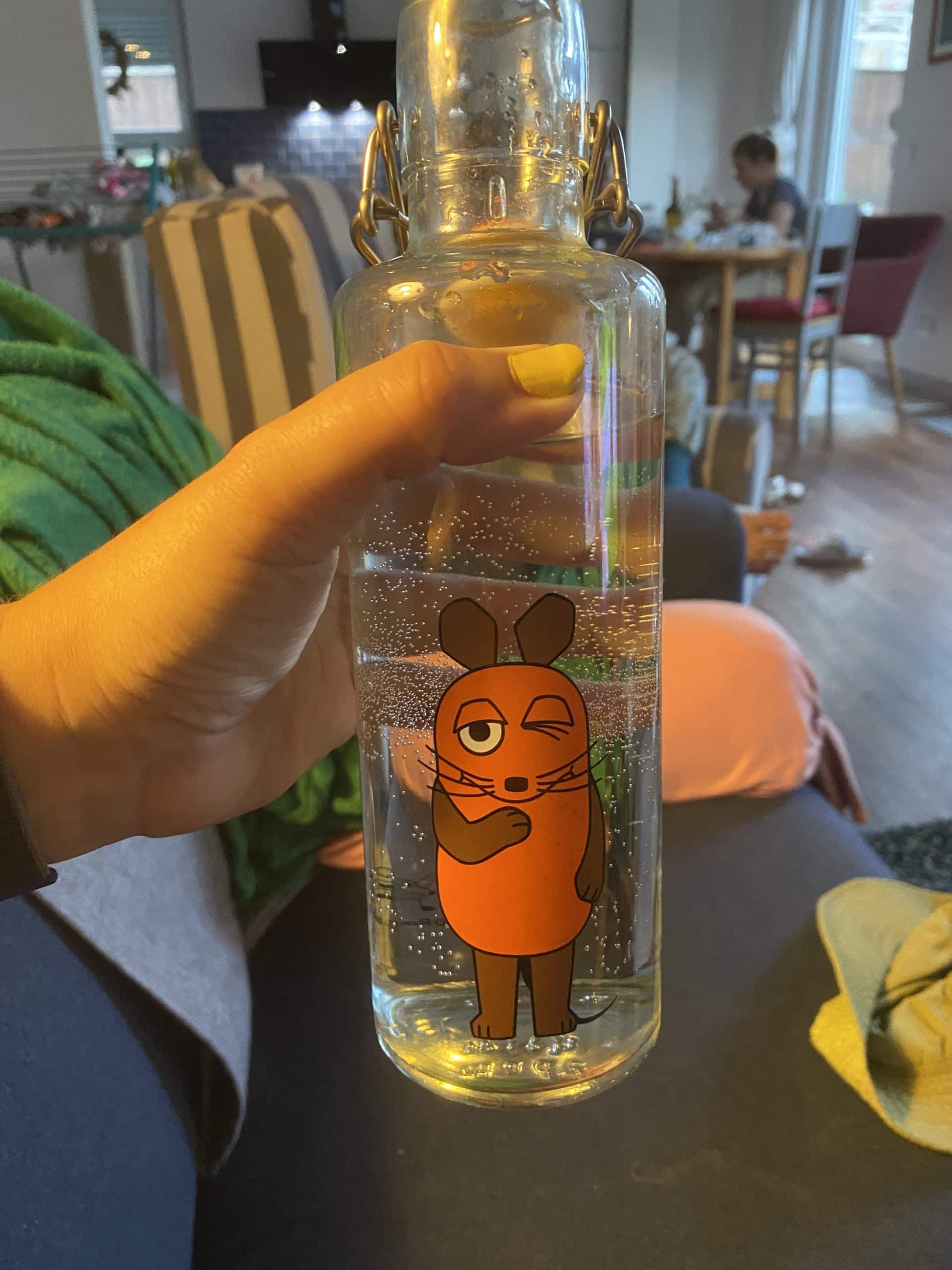 #12 und heute wieder einem der Kinder entwendet, die nehmen nämlich sehr gern meine Maus Flasche. Prost und Gute Nacht.