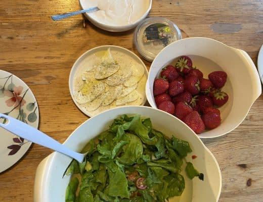 Salat aus dem eigenen Garten.
