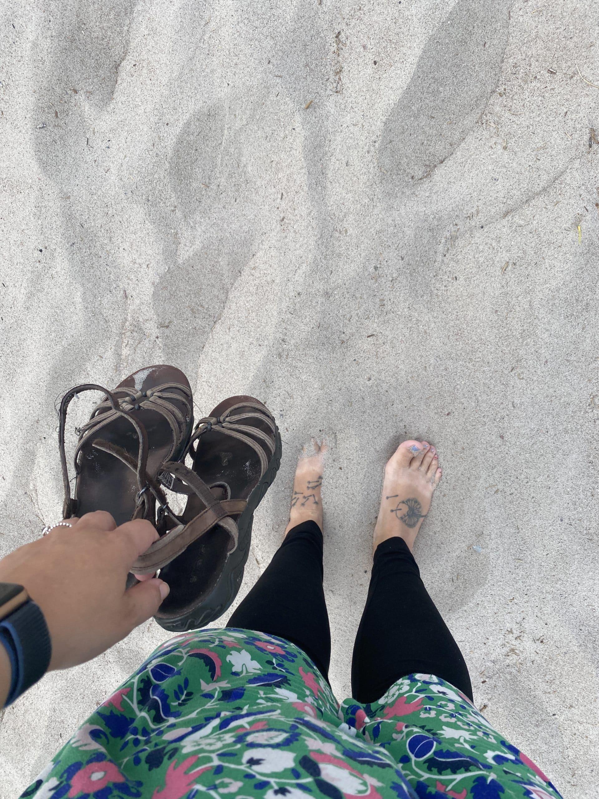 So muss das sein, ein Urlaub ohne Sand an den Füßen ist kein Urlaub.