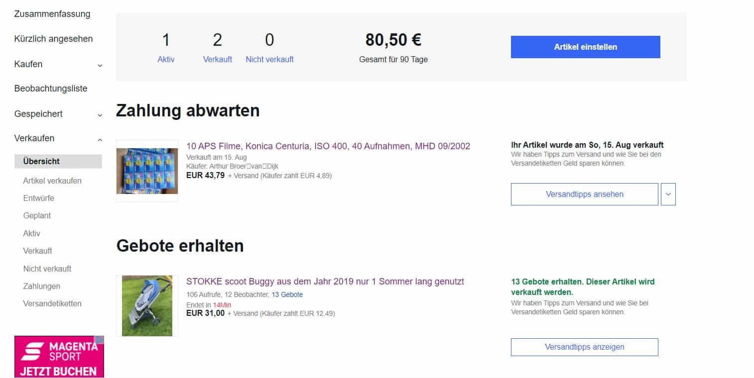 Wie von Zauberhand_Wir verkaufen und nutzen das Ebay Bonuspunkte System