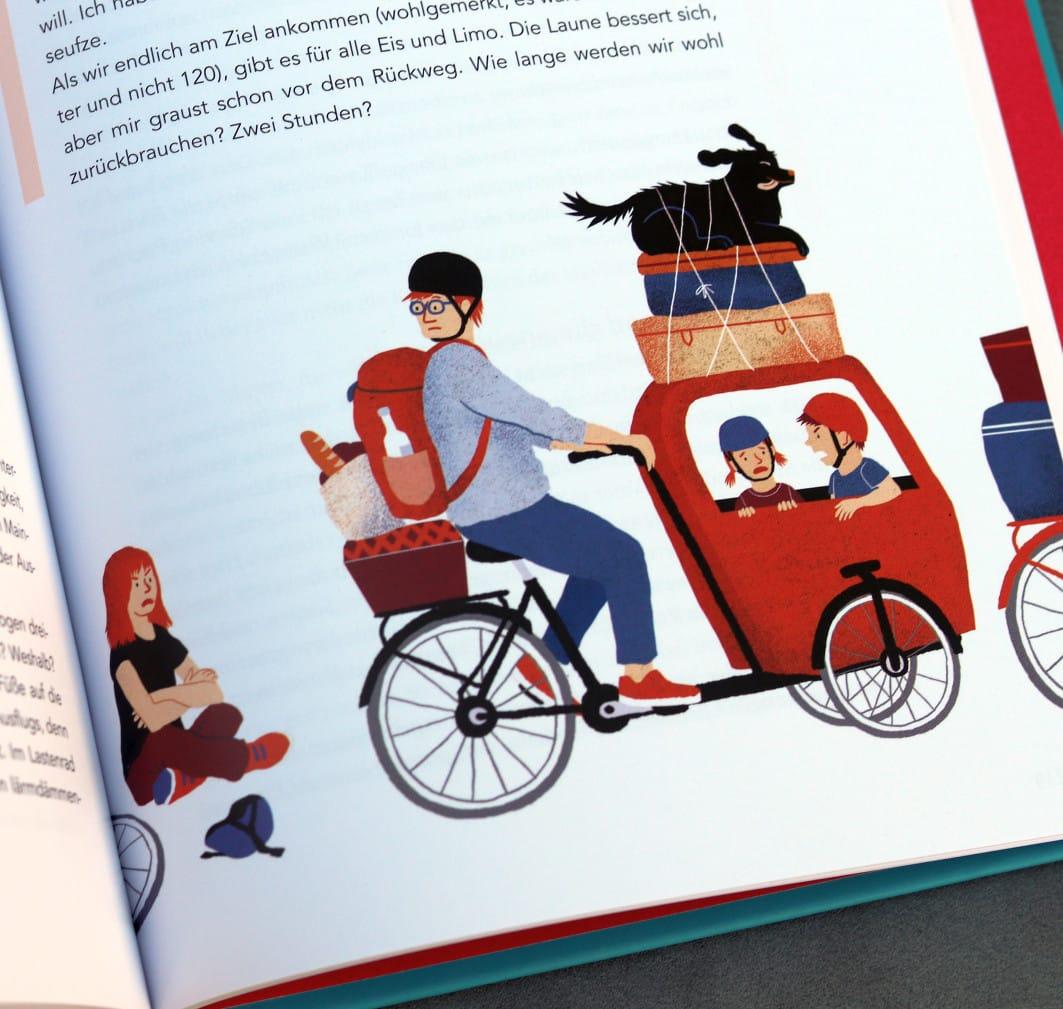 Hallo Samstag. Das Kind zeigt mir seine Lieblingsstelle im gerade erschienenen Buch (sieht ja auch verdächtig nach uns aus).