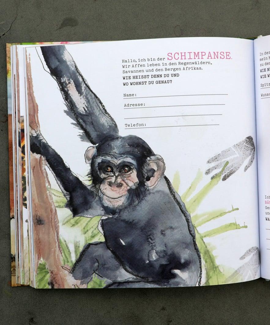 """""""Freundschaftsbuch. Tiere kennenlernen und schützen"""" von Eva Jöckel und Sandra Theumert (Freies Geistesleben)"""